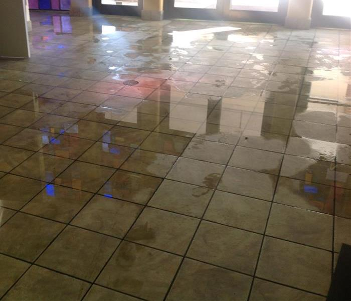 Water Damage to Commercial Property in Memphis TN Before