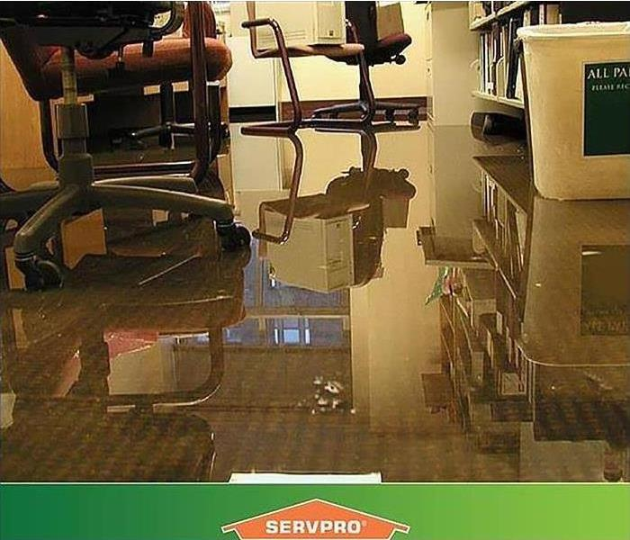 Water damage in a business in Bartlett, Tennessee.